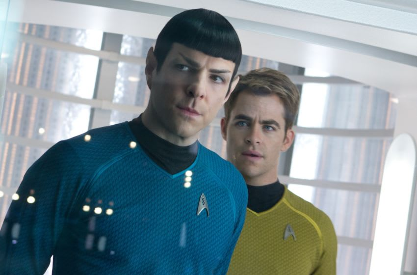 (Left to right) Zachary Quinto is Spock and Chris Pine is Kirk in STAR TREK INTO DARKNESS from Paramount Pictures and Skydance Productions.
