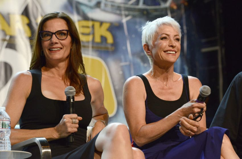 LAS VEGAS, NV - AUGUST 05: Actresses Terry Farrell and Nana Visitor attend Day 4 of Creation Entertainment's 2018 Star Trek Convention Las Vegas at the Rio Hotel & Casino on August 5, 2018 in Las Vegas, Nevada. (Photo by Albert L. Ortega/Getty Images)