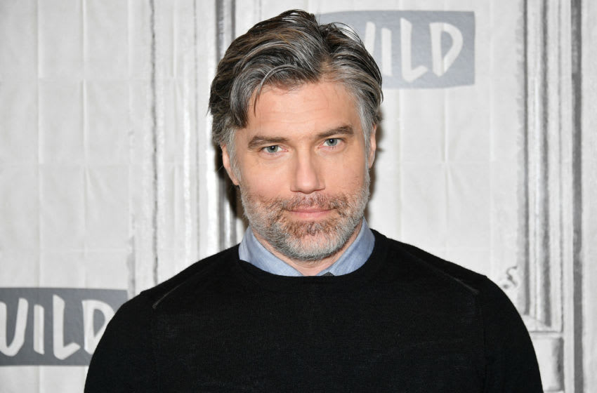 NEW YORK, NEW YORK - JANUARY 16: Anson Mount visits Build to discuss