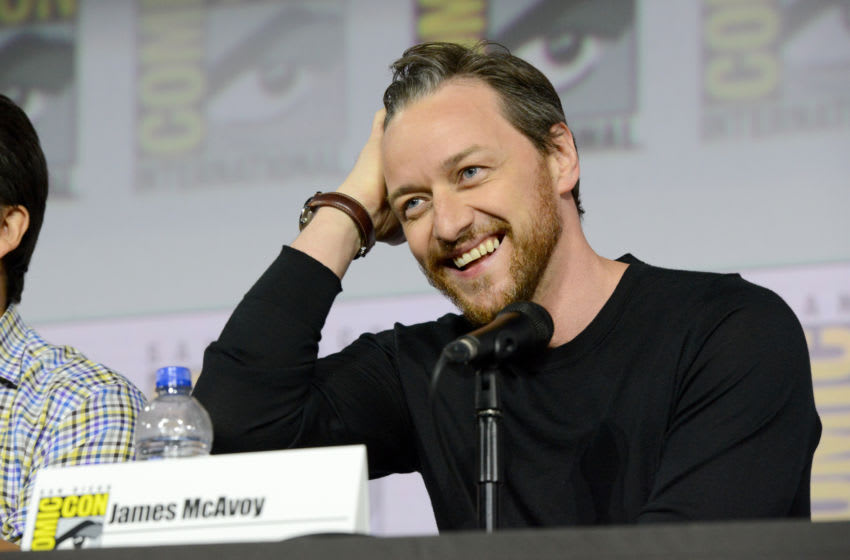 SAN DIEGO, CALIFORNIA - JULY 18: James McAvoy speaks at the
