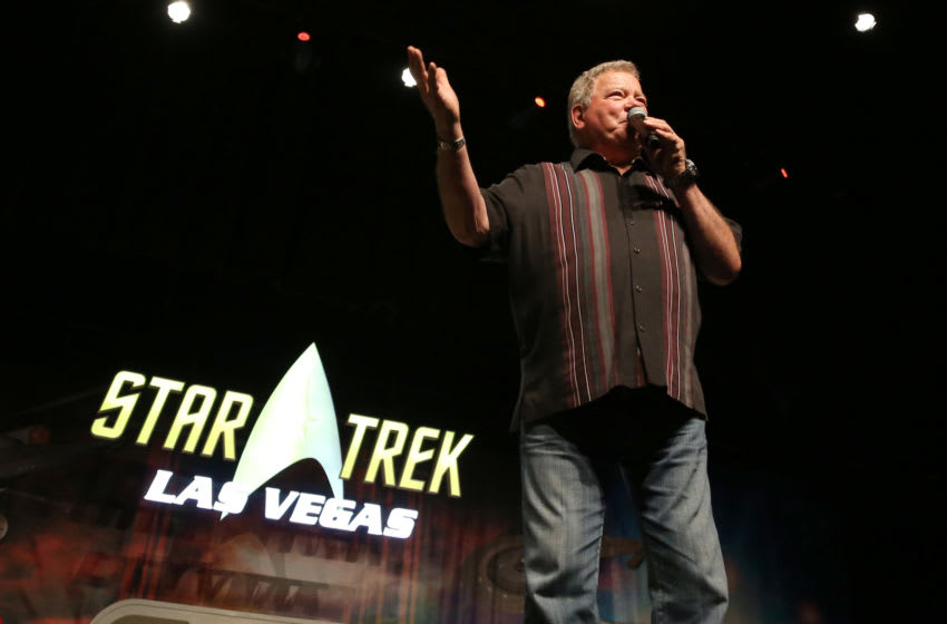 LAS VEGAS, NEVADA - AUGUST 03: Actor William Shatner speaks during