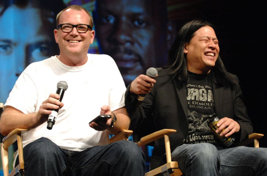 LAS VEGAS, NV - AUGUST 11: Actor Robert Duncan McNeill and actor Garrett Wang participate in the 11th Annual Official Star Trek Convention - day 3 held at the Rio Suites and Hotel on August 11, 2012 in Las Vegas, Nevada. (Photo by Albert L. Ortega/Getty Images)