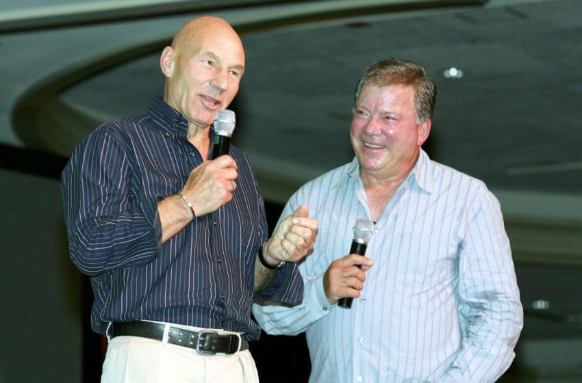 LAS VEGAS - AUGUST 14: Actor Patrick Stewart (L), who played the character Capt. Jean-Luc Picard on the television series