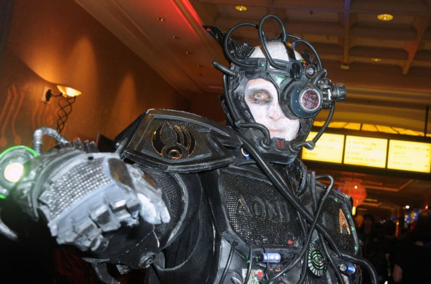 LAS VEGAS, NV - AUGUST 05: Cosplayer dressed as a Borg on day 3 of Creation Entertainment's Official Star Trek 50th Anniversary Convention at the Rio Hotel & Casino on August 5, 2016 in Las Vegas, Nevada. (Photo by Albert L. Ortega/Getty Images)