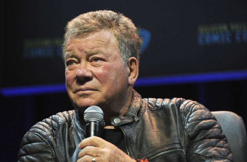 SAN JOSE, CA - APRIL 22: Actor William Shatner moderates the 'Star Trek: The Next Generation' panel on day 2 of Silicon Valley Comic Con 2017 held at San Jose Convention Center on April 22, 2017 in San Jose, California. (Photo by Albert L. Ortega/Getty Images)