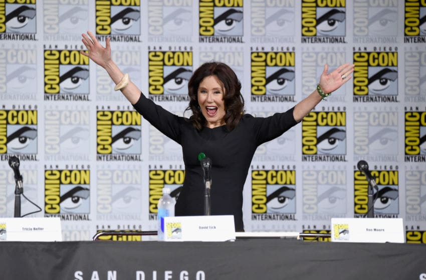 SAN DIEGO, CA - JULY 20: Actor Mary McDonnell walks onstage at SYFY: