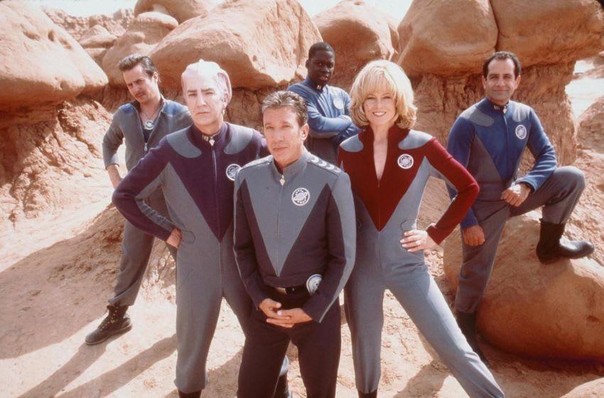 1999 Tim Allen, Sigourney Weaver, Alan Rickman, Sam Rockwell, Tony Shalhoub, and Daryl Mitchell, stars in the movie