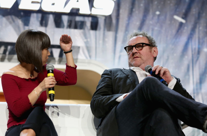 LAS VEGAS, NV - AUGUST 01: Actress Hana Hatae (L) and actor Colm Meaney speak at the