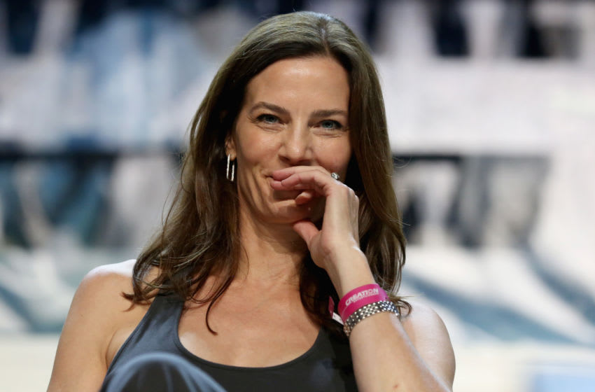 LAS VEGAS, NV - AUGUST 03: Actress Terry Farrell speaks at the