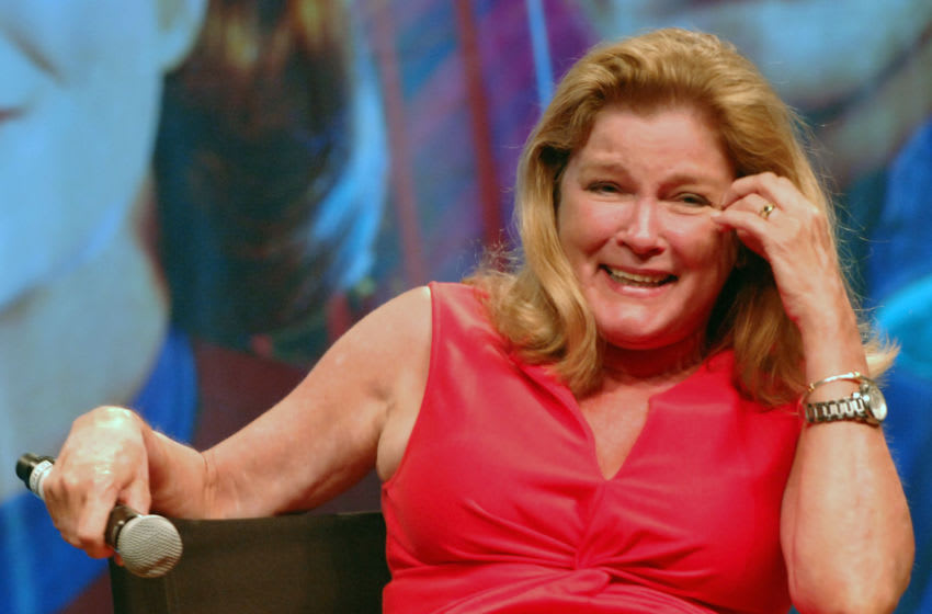 LAS VEGAS, NV - AUGUST 12: Actress Kate Mulgrew participates in the 11th Annual Official Star Trek Convention - day 4 held at the Rio Hotel & Casino on August 12, 2012 in Las Vegas, Nevada. (Photo by Albert L. Ortega/Getty Images)