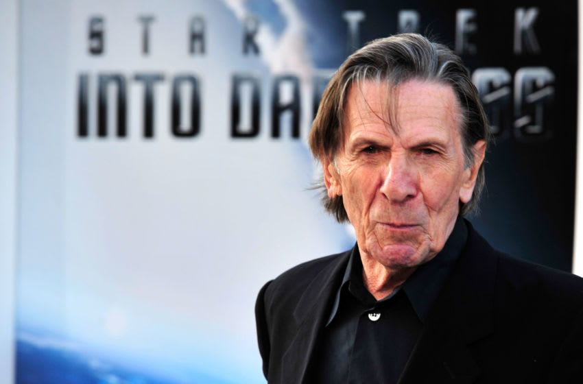 HOLLYWOOD, CA - MAY 14: Actor Leonard Nimoy arrives at the premiere of Paramount Pictures' 'Star Trek Into Darkness' at the Dolby Theatre on May 14, 2013 in Hollywood, California. (Photo by Frazer Harrison/Getty Images)