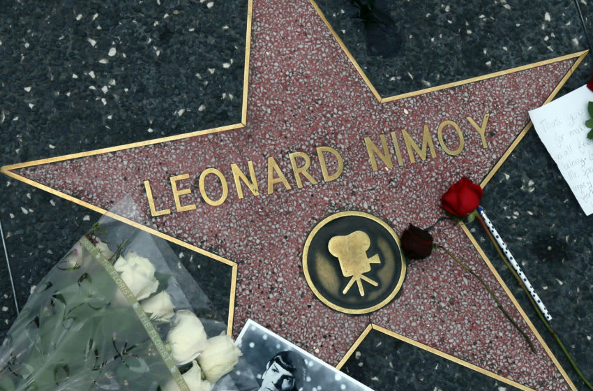 HOLLYWOOD, CA - FEBRUARY 27: Actor Leonard Nimoy is remembered on the Hollywood Walk of Fame on February 27, 2015 in Hollywood, California. (Photo by David Livingston/Getty Images)
