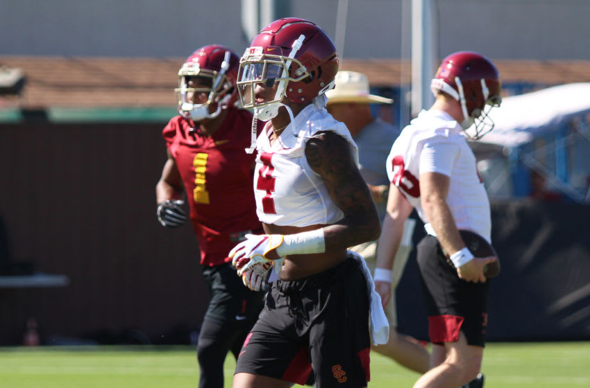 USC football players can begin to return to campus. (Alicia de Artola/Reign of Troy