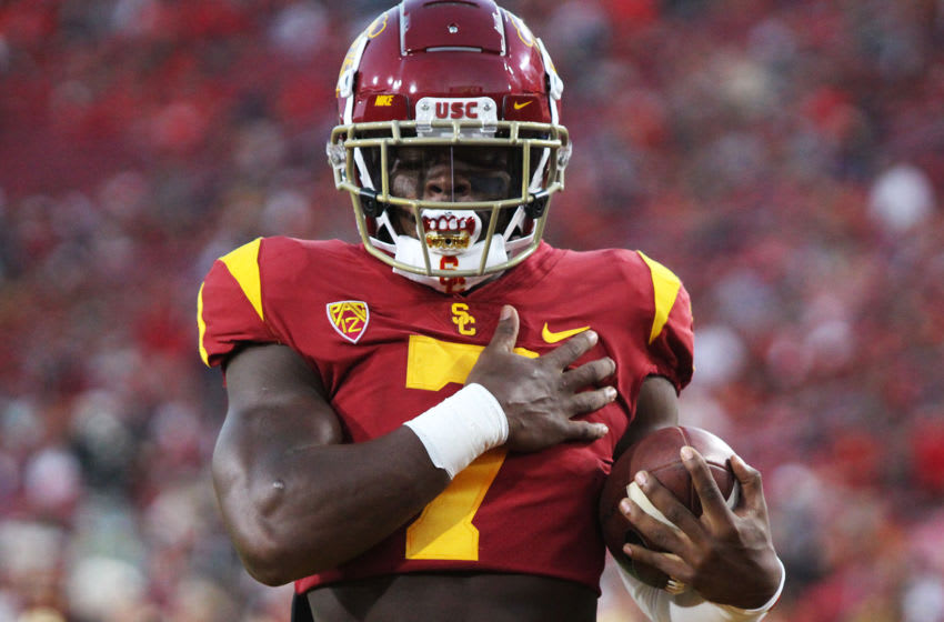 Stephen Carr is looking for a breakout senior season with USC football. (Alicia de Artola/Reign of Troy)