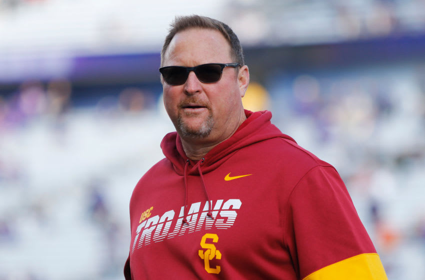 USC football coach Tim Drevno. (Alicia de Artola/Reign of Troy)