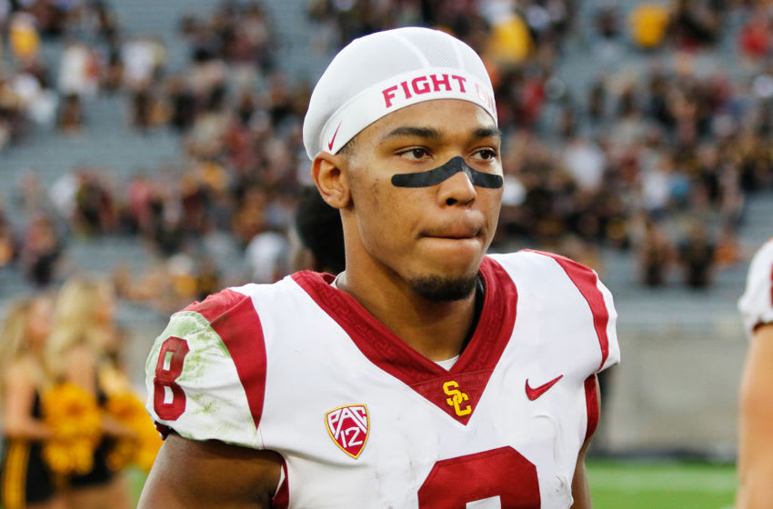 USC football wide receiver Amon-Ra St. Brown. (Alicia de Artola/Reign of Troy)