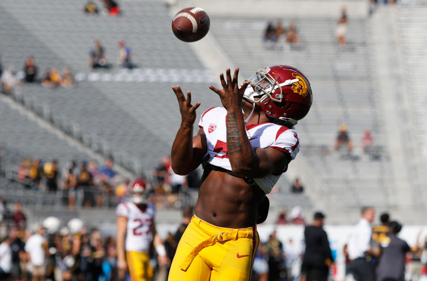 USC football running back Stephen Carr. (Alicia de Artola/Reign of Troy)