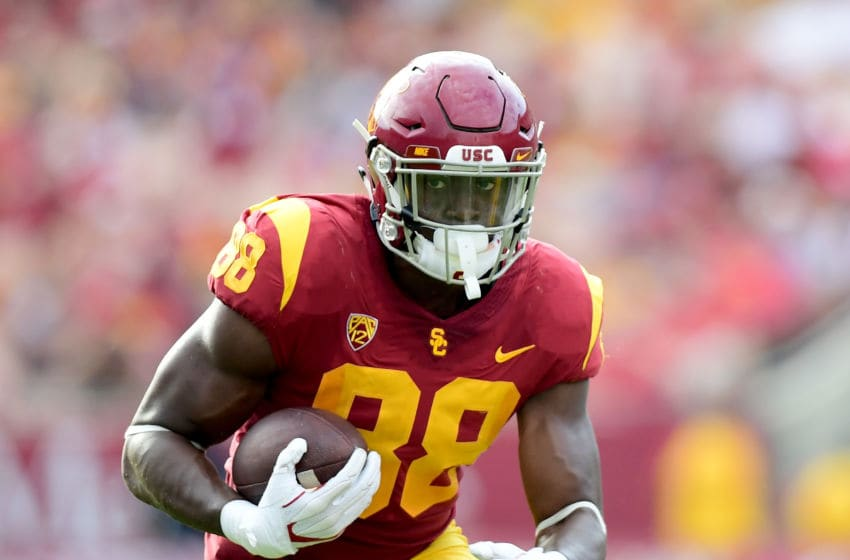 USC football tight end Daniel Imatorbhebhe. (Harry How/Getty Images)