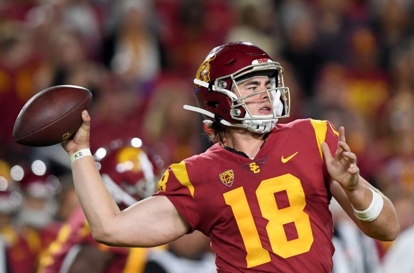 Former USC football quarterback JT Daniels. Harry How/Getty Images