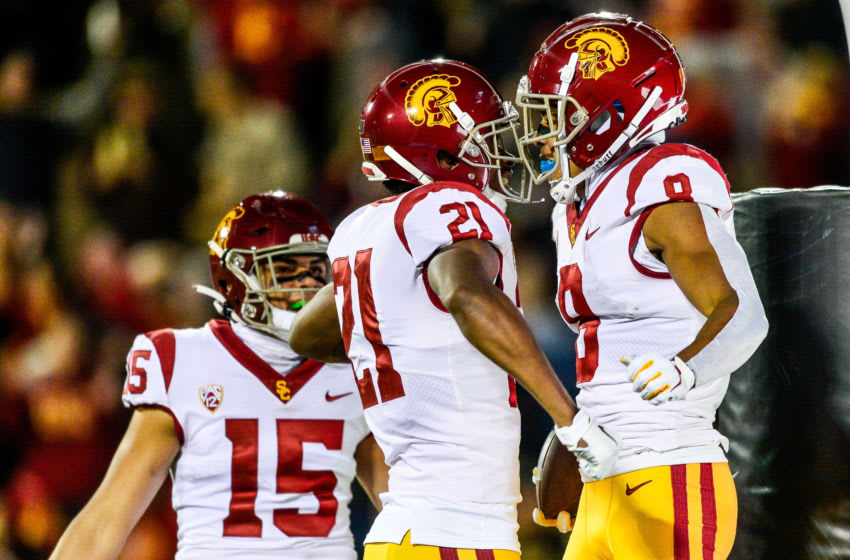 The USC depth chart has great receivers, but are there enough of them? (Dustin Bradford/Getty Images)