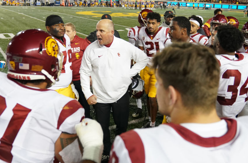 USC football recruiting cooled down but remains active. (Thearon W. Henderson/Getty Images)