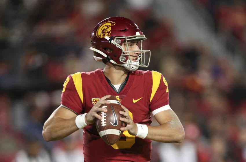 USC football quarterback Kedon Slovis. (Meg Oliphant/Getty Images)