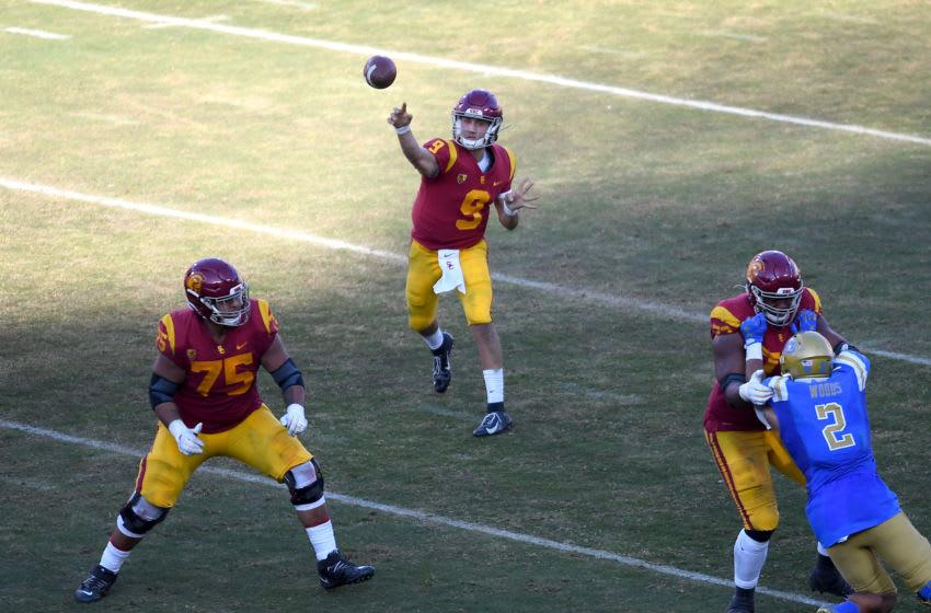 USC football quarterback Kedon Slovis. (Jayne Kamin-Oncea/Getty Images)
