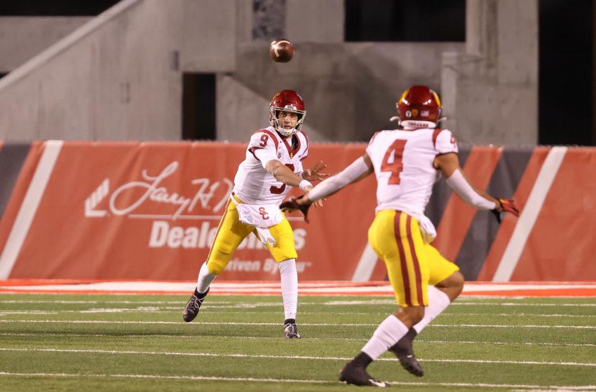 USC football quarterback Kedon Slovis. (Chris Nicoll-USA TODAY Sports)