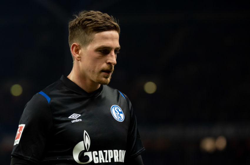 BERLIN, GERMANY - JANUARY 31: (BILD ZEITUNG OUT) Bastian Oczipka of FC Schalke 04 looks on during the Bundesliga match between Hertha BSC and FC Schalke 04 at Olympiastadion on January 31, 2020 in Berlin, Germany. (Photo by TF-Images/Getty Images)