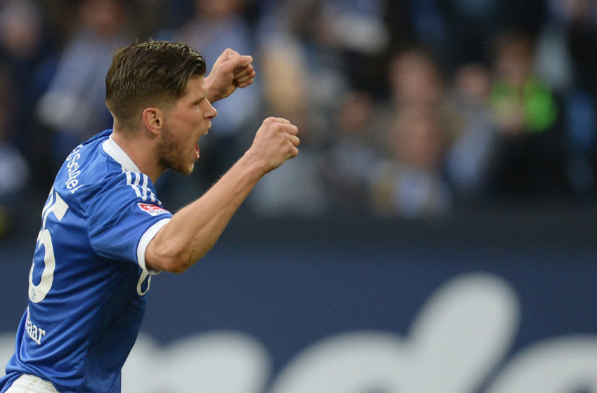 Schalke 04, Klaas-Jan Huntelaar (Photo credit should read PATRIK STOLLARZ/AFP via Getty Images)