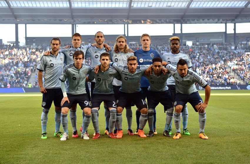 Mar 20, 2016; Kansas City, KS, USA; Sporting KC players pose for a team photo prior to a game against Toronto FC at Children