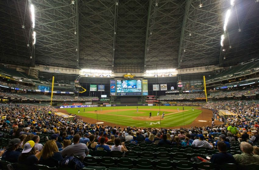 Aug 17, 2015; Milwaukee, WI, USA; General view of Miller Park during the game between the Miami Marlins and Milwaukee Brewers. Miami won 6-2. Mandatory Credit: Jeff Hanisch-USA TODAY Sports