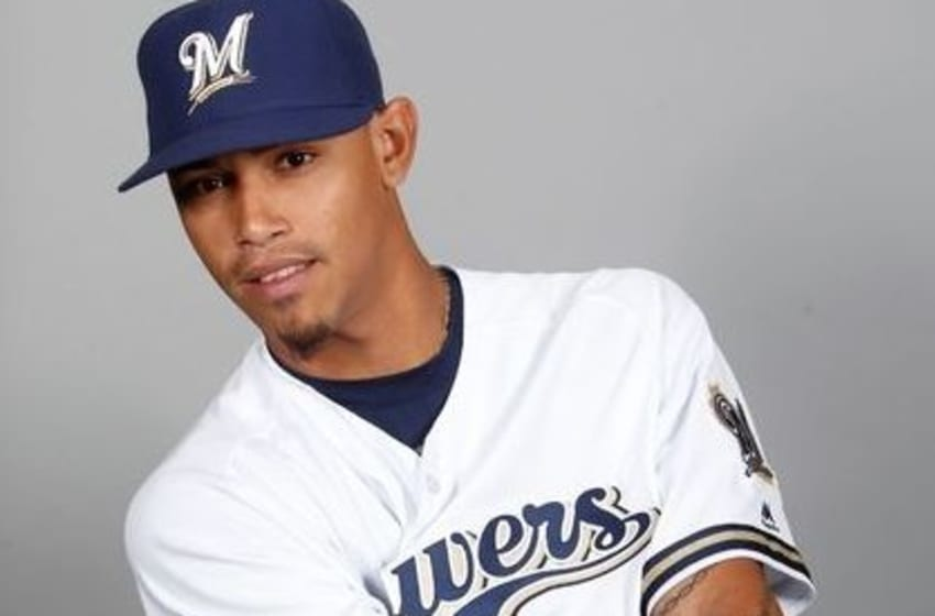 Feb 26, 2016; Maryvale, AZ, USA; Milwaukee Brewers pitcher Orlando Arcia (72) poses for photo day at Maryvale Baseball Park. Mandatory Credit: Rick Scuteri-USA TODAY Sports