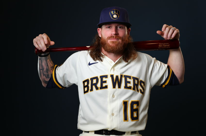 Ben Gamel, Milwaukee Brewers (Photo by Jamie Schwaberow/Getty Images)