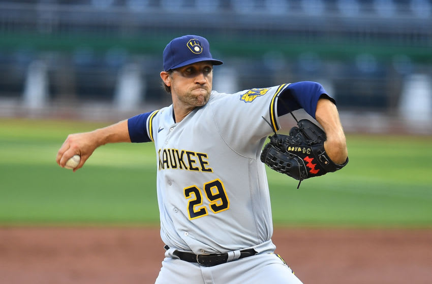 Josh Lindblom, Milwaukee Brewers (Photo by Joe Sargent/Getty Images)