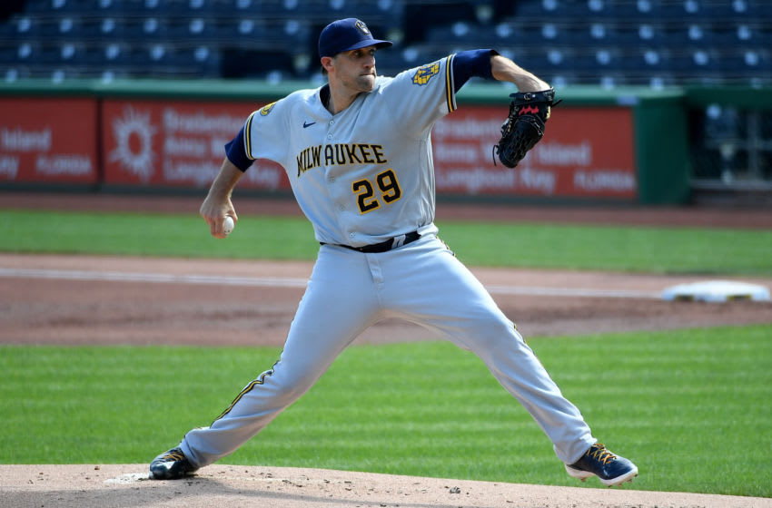 Josh Lindblom, Milwaukee Brewers (Photo by Justin Berl/Getty Images)