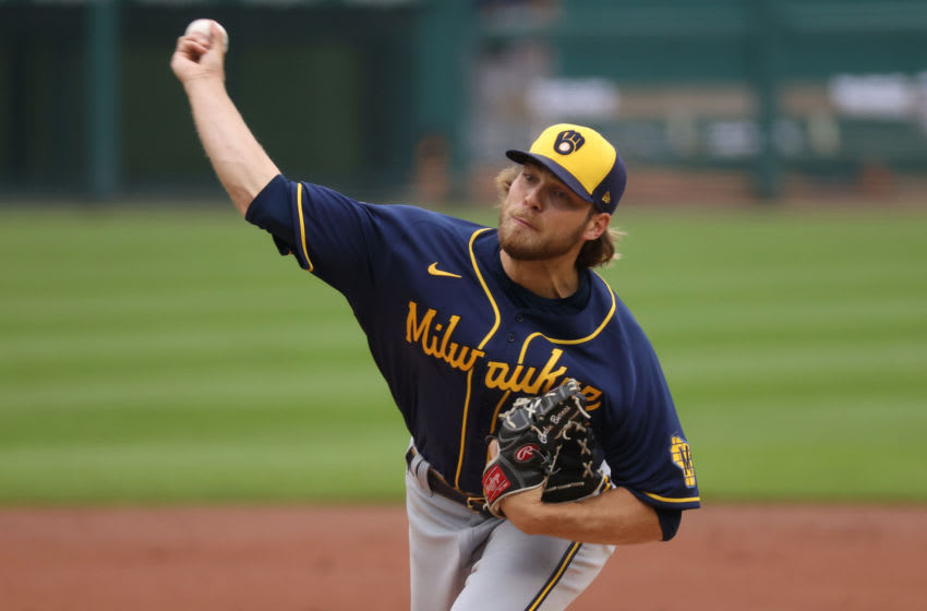 Corbin Burnes, Milwaukee Brewers (Photo by Gregory Shamus/Getty Images)