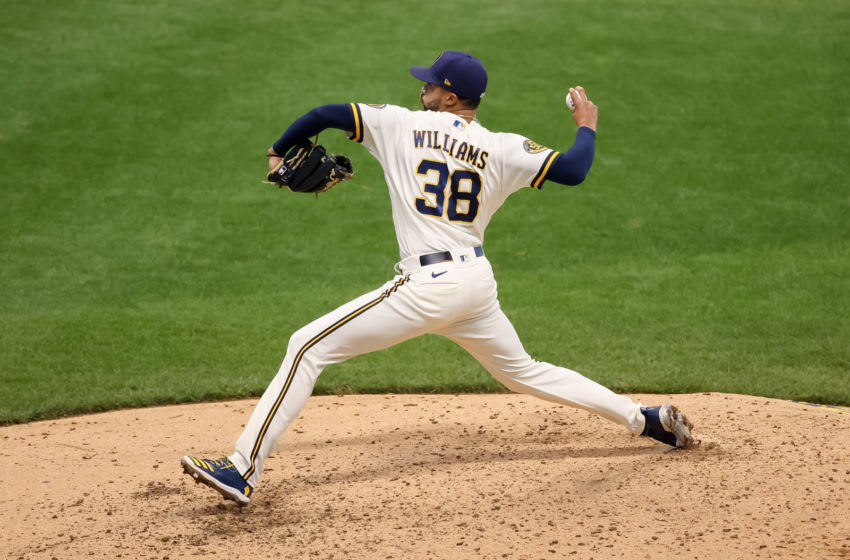 Devin Williams, Milwaukee Brewers (Photo by Dylan Buell/Getty Images)