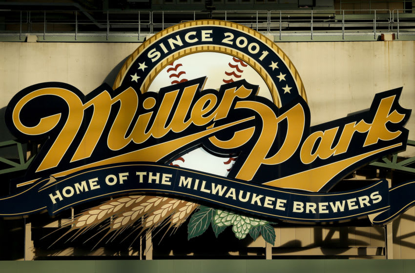 MILWAUKEE, WI - APRIL 22: The sign for Miller Park is bathed in sunlight during the game between the Philadelphia Phillies and Milwaukee Brewers at Miller Park on April 22, 2016 in Milwaukee, Wisconsin. (Photo by Dylan Buell/Getty Images)
