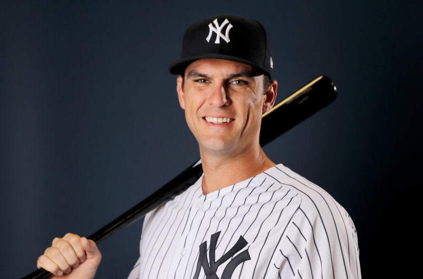TAMPA, FLORIDA - FEBRUARY 21: Greg Bird #33 of the New York Yankees poses for a portrait during the New York Yankees Photo Day on February 21, 2019 at George M. Steinbrenner Field in Tampa, Florida. (Photo by Elsa/Getty Images)