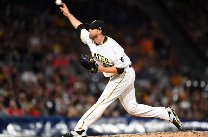 PITTSBURGH, PA - MAY 19: Josh Lindblom #47 of the Pittsburgh Pirates pitches during the eighth inning against the Philadelphia Phillies at PNC Park on May 19, 2017 in Pittsburgh, Pennsylvania. (Photo by Joe Sargent/Getty Images)
