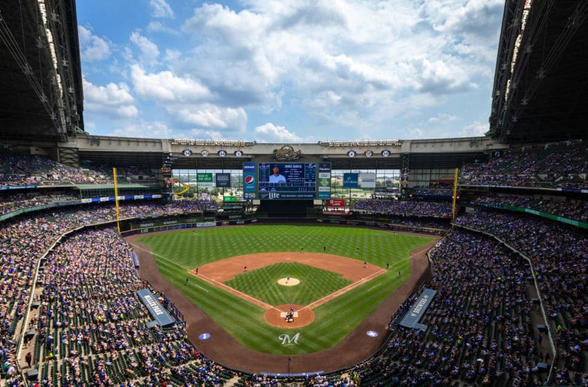 MILWAUKEE, WISCONSIN - JULY 28: A general view in the first inning between the Chicago Cubs and Milwaukee Brewers at Miller Park on July 28, 2019 in Milwaukee, Wisconsin. (Photo by Dylan Buell/Getty Images)