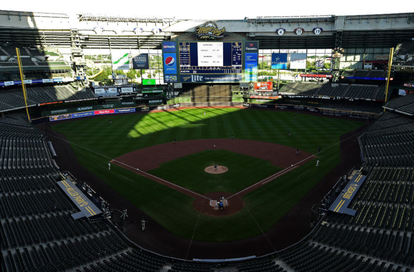 MILWAUKEE, WISCONSIN - JULY 17: A general view of Miller Park during Summer Workouts for the Milwaukee Brewers on July 17, 2020 in Milwaukee, Wisconsin. (Photo by Stacy Revere/Getty Images)