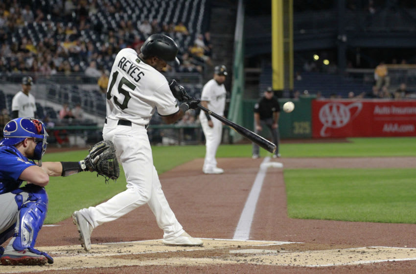 Pablo Reyes, Pittsburgh Pirates Mandatory Credit: Charles LeClaire-USA TODAY Sports