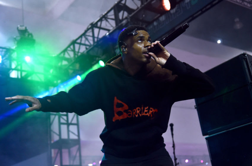 LOS ANGELES, CALIFORNIA - JUNE 21: Vince Staples performs onstage at the 2019 BET Experience DJ Hed Presents Kicksperience Sponsored by Sprite at Los Angeles Convention Center on June 21, 2019 in Los Angeles, California. (Photo by Alberto E. Rodriguez/Getty Images for BET)