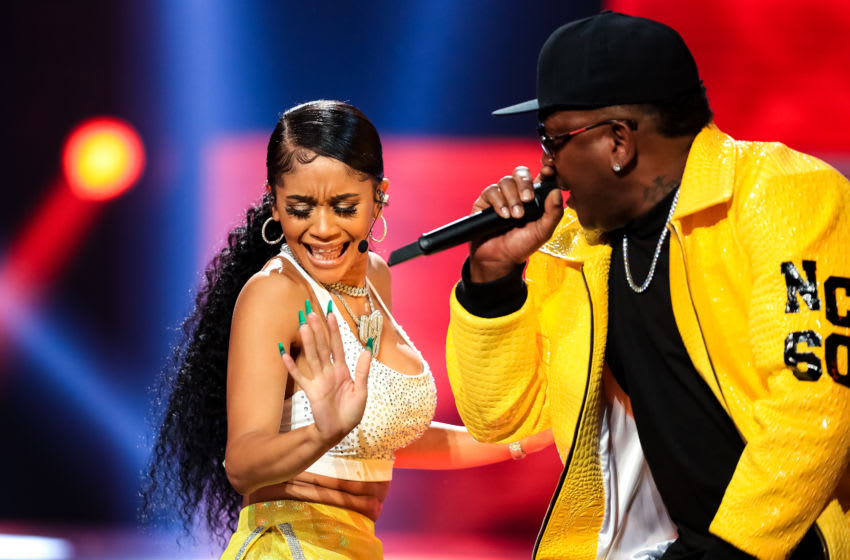 ATLANTA, GA - OCTOBER 5: Saweetie and Petey Pablo perform onstage at the BET Hip Hop Awards 2019 at Cobb Energy Center on October 5, 2019 in Atlanta, Georgia. (Photo by Carmen Mandato/Getty Images)