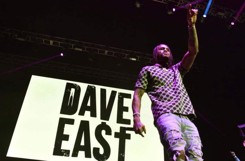 OAKLAND, CALIFORNIA - FEBRUARY 21: Dave East performs during EMBA Fest 2020 at Oakland Arena on February 21, 2020 in Oakland, California. (Photo by Tim Mosenfelder/Getty Images)