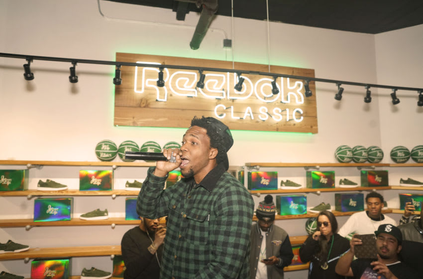 NEW ORLEANS, LA - FEBRUARY 16: Curren$y performs for Sneaker Politics Launch New Club C Curren$y Sneaker at Sneaker Politics powered by Reebok Classic and Mitchell & Nesson on February 16, 2017 in New Orleans, Louisiana. (Photo by Ryan Theriot/Getty Images for Reebok)