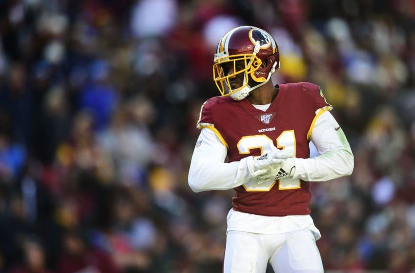 LANDOVER, MD - NOVEMBER 24: Fabian Moreau #31 of the Washington football team in action in the first half against the Detroit Lions at FedExField on November 24, 2019 in Landover, Maryland. (Photo by Patrick McDermott/Getty Images)