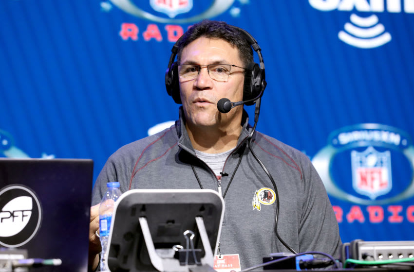 MIAMI, FLORIDA - JANUARY 30: NFL coach, Ron Rivera, of the Washington Football Team speaks onstage during day 2 of SiriusXM at Super Bowl LIV on January 30, 2020 in Miami, Florida. (Photo by Cindy Ord/Getty Images for SiriusXM )